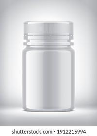 Plastic Bottle on background. 3d rendering