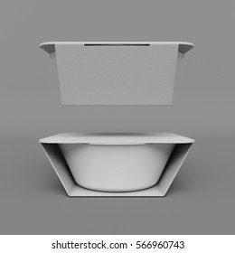 Plastic container packaging. 3D illustration. High quality