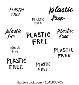 Plastic free lettering