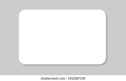 Plastic or paper white card for your design. Can use for credit, visit, gift, business card. 3D Rendered. Isolated on white background.