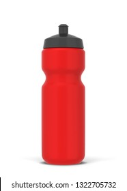 Plastic sport bottle for water and other drinks. 3d illustration isolated on white background