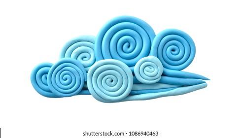 Plasticine illustration. Cloud.