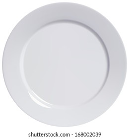 Plate empty, isolated. Illustration
