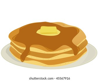 Plate of pancakes - jpg version