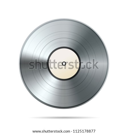 platinum album vinyl disc template isolated stock illustration
