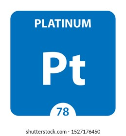 Platinum Chemical 78 element of periodic table. Molecule And Communication Background. Platinum Chemical Pt, laboratory and science background. Essential chemical minerals and micro elements