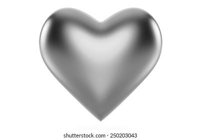 Platinum Heart isolated on white background