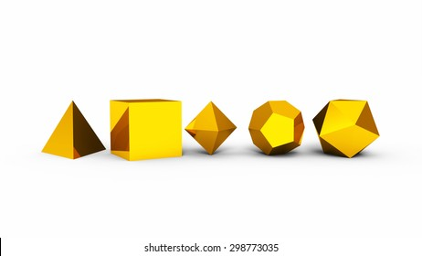 platonic solids gold