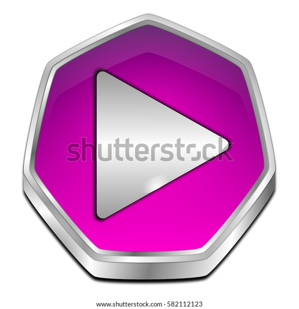 Play Button - 3D illustration