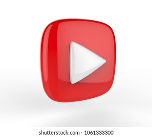 Play Button, 3d render illustration.
