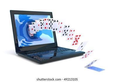 Play cards. Hi-res digitally generated image.