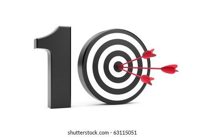 Play on ten. Success metaphor