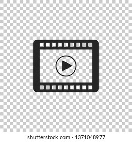 Play Video icon isolated on transparent background. Flat design