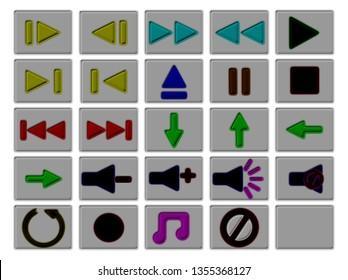 playback button symbols