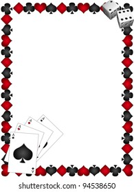 Playing Cards with border