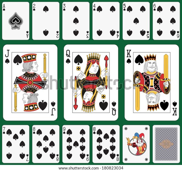 spade card joker  Playing Cards Spade Suit Joker Back Stock Illustration 7