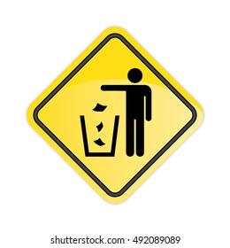 Please do not litter Sign.