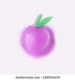 Plum illustration, painting
