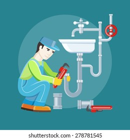 plumber cartoon images stock photos vectors shutterstock