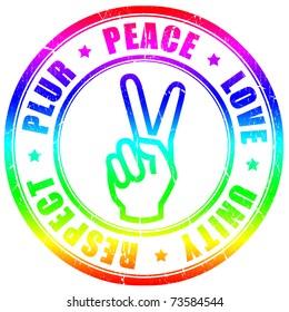 Plur hippy symbol