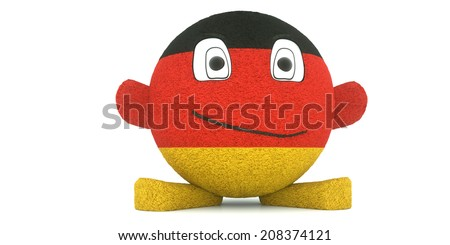 Plush toy ball, flag of the Germany