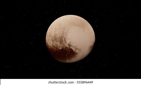 Pluto dwarf planet (Elements of this image furnished by NASA)