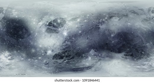 Pluto Planet Surface Map. 3D rendering
