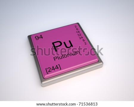 Plutonium Chemical Element Periodic Table Symbol Stock Illustration