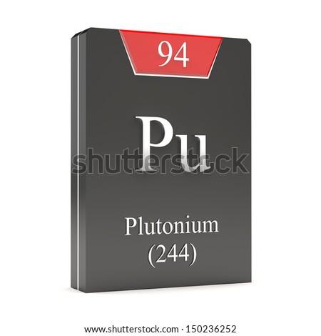 Plutonium Pu 97 Periodic Table Stock Illustration 150236252