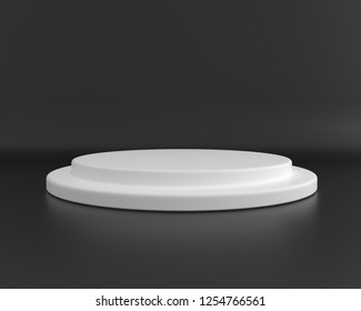 Podium black and white for your design and product. 3d render