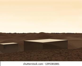 Sand Dunes Qatar Stock Illustrations, Images & Vectors
