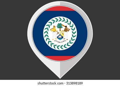 A Pointer with the flag of Belize
