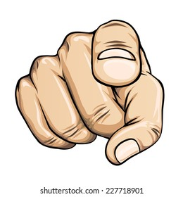 pointing finger or hand pointing icon isolated on white background