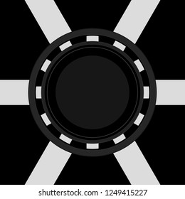 Poker Chip Texture Map for 3D Cylindrical Object