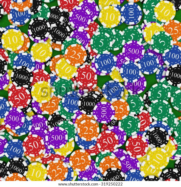 Poker Chips Background Stock Illustration 319250222