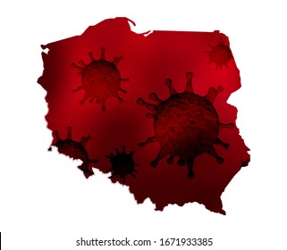 Poland Coronavirus map. Polska koronawirus mapa.