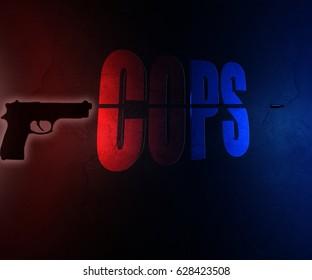 Police background illustration/Cops background