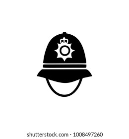 police cap in England icon. Element of United Kingdom culture icons. Premium quality graphic design icon. Signs, outline symbols collection icon for websites, web design, mobile on white background