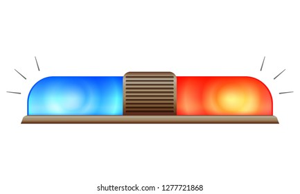 Police car flasher icon. Cartoon of police car flasher icon for web design isolated on white background