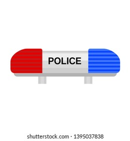 Police car flasher icon. Flat illustration of police car flasher icon for web design
