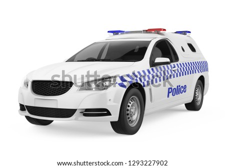 Royalty Free Stock Illustration Of Police Car Isolated 3 D Rendering