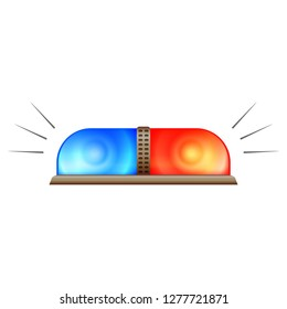 Police flasher icon. Cartoon of police flasher icon for web design isolated on white background