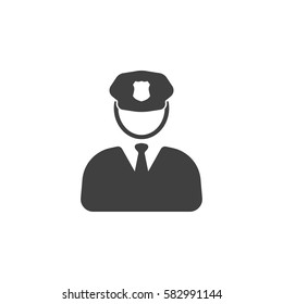 Police Icon  on the white background