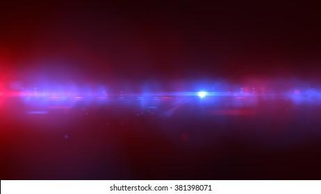 police light flares. luminous background