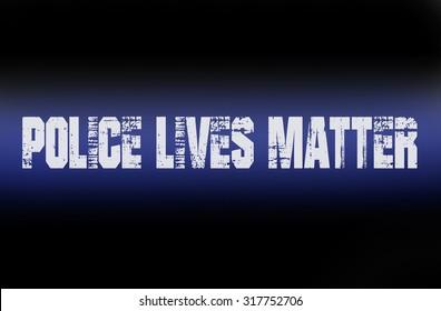Police Lives Matter thin blue line