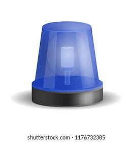 Police siren icon. Realistic illustration of police siren icon for web