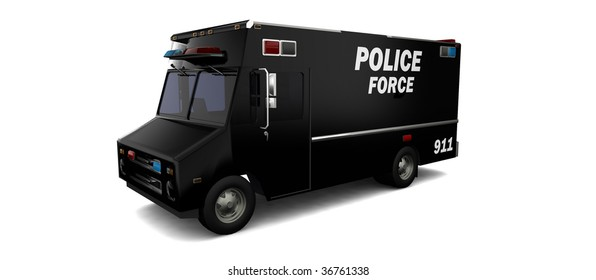 Police SWAT van / vehicle