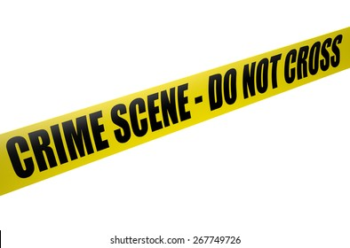 Police Tape - crime scene do not cross isolated on white background