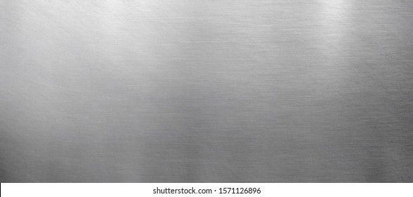 Polished metal texture, shiny steel banner