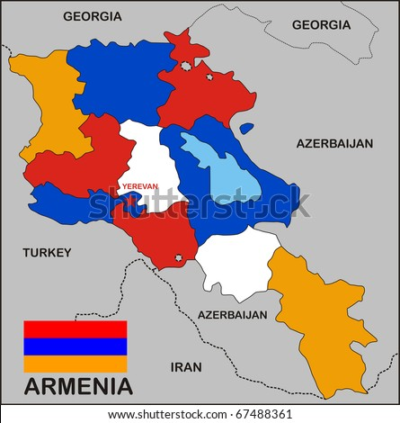 Royalty Free Stock Illustration of Political Map Armenia Country ...